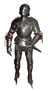 A suit of Gothic plate armour